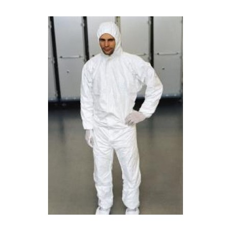 Disposable coverall with integrated hood