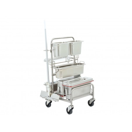 Cleaning trolley Clino® CR4 EM-GMP