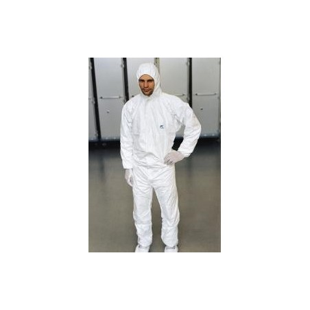 Disposable Tyvek® coverall, with integrated hood
